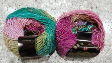 Noro Silk Garden Lite # 2170 Sukumo Pink Brown & Green Mix 50g