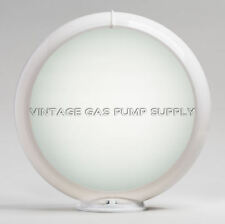 """Frosted 13.5"""" Gas Pump Globe SINGLE LENS (G132)"""