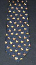 Salvatore Ferragamo Black Brown Red & Beige Snails Silk Tie, MI Italy