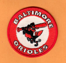 1970's BALTIMORE ORIOLES 3 inch RAISED LOGO EMBROIDERED IRON ON PATCH UNSOLD
