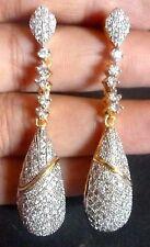 Original Cubic Zirconia White Stone AD CA Dangler Indian Earrings Jhumka