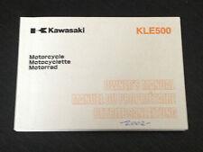 2001 KAWASAKI KLE 500 - OWNERS MANUAL USUARIO LIBRETTO USO HANDBOOK