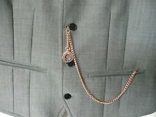 Single albert rose gold plated pocket watch chain fob t bar cloc