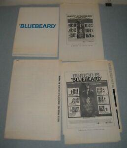 1972 BLUEBEARD PROMO MOVIE PRESSBOOK RICHARD BURTON RAQUEL WELCH VIRNA LISI