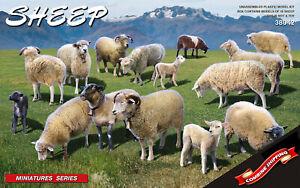Miniart 38042 Sheep (15 Figures) plastic model kit 1/35