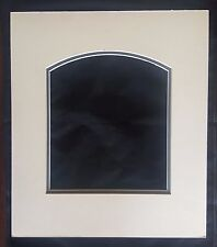 5 Double Arch Top Picture Photo Mounts 35.2x30.7 for 18.5x21cm Ivory Bevel Cut