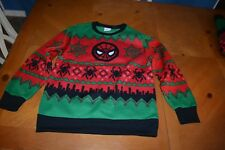 SPIDER-MAN CUTE UGLY CHRISTMAS SEATER BRAND NEW NEVER WORN SIZE LARGE