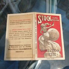Raro Calendarietto Barbiere STOCK cogna medicinal Trieste 1922 Messina
