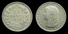 Netherlands - 25 Cent 1895 variant a: muntmeesterteken recht