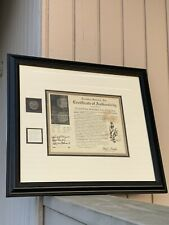 8 REALES FROM ATOCHA SHIPWRECK WITH COA AND FLIP FRAMED