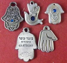 Israel Judaica lot of 5 hamsah amulates with differents blessings (H12)