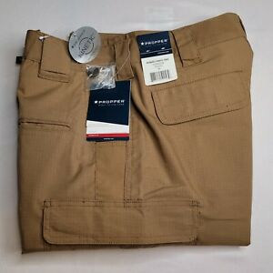"""Propper Kinetic Cotton Womens Coyote  Tactical Stretch Pants 8R X 32"""" inseam"""