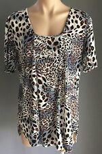 Great Condition CORDELIA STREET Animal Print Short Sleeve Tunic Top Size 16