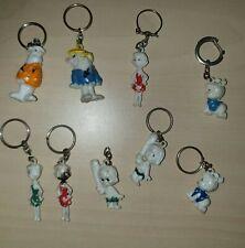 Vintage THE FLINTSTONES Keyrings Keychains Key rings 1960s Fred Flintstone