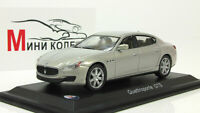Scale model car 1:43 Maserati Quattroporte GTS gray