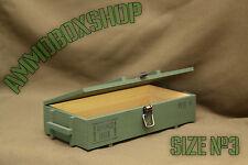 Ammo Box Small Casket Ammunition Drawer Cartridges crate Storage Wood Size3