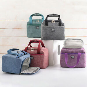 Insulated Lunch Bag Box Thermal Cooler Hot Cold Adult Tote Food for Women Man UK