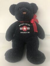 """National Air Space Museum Plush Bear Smithsonian Institution Dark Blue 14"""" Tall"""