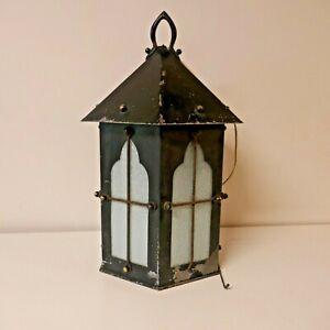 HUGE Vintage Arts & Crafts style Porch Lantern - 56 cm high.