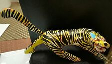 TIGER OAXACAN WOOD CARVING  SIGNED by  FRANCISCO MELCHOR