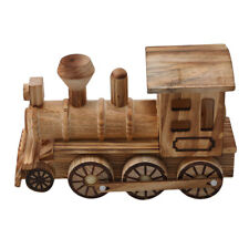 Locomotive Models Assembly Wooden Steam Train Kits Toy Gift For Children Kid T