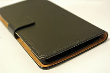 For One Plus Two Black Genuine Real Leather Business Card Wallet Case Cover