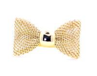 Carini regolabile color oro a rete anello con fiocco