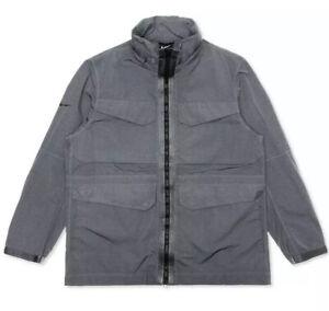 Nike Men's Sportswear Tech Pack High Density M65 Jacket Grey Black BV4430-021