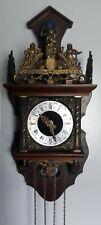 New ListingDutch Antique Wall Clock Made In Holland Hermle Movement Runs Well
