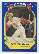 1981 Fleer Baseball Star Sticker - #101 - Dave Concepcion - Cincinnati Reds