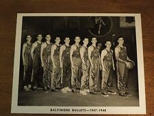 1947-1948 Baltimore Bullets Basketball Team B&W 8x10 Reproduction Photograph