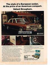 1974 Plymouth Valiant Brougham Vtg Print Ad