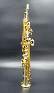 Eastern Music Germany copper body one piece straight soprano saxophone lacquered