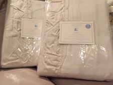 "2 Nwt Pottery Barn Kids Lucy Velvet blackout drapes 44x63"" Ivory"