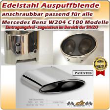 Mercedes Benz W204 C180 Modelle Edelstahl Auspuffblende spezifisch anschraubbar