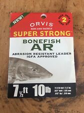 Orvis, Super Strong, Abrasion Resistant Leader, 7 1/2 ft, 10lb, Saltwater,