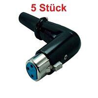 XLR Audio runder Winkel Stecker 3 Pins zum löten für Mikrofon abgewinkelt Buchse