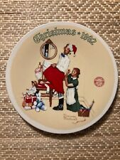 """Norman Rockwell 1992 Christmas Plate """"Christmas Surprise"""" with COA"""