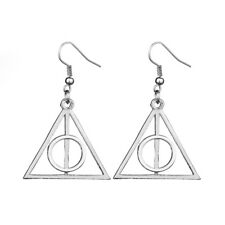 Harry Potter Silver Deathly Hallows Earrings