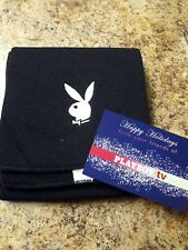 Playboy Black Scarf with White Logo (New, Authentic Playboy Licensed item)