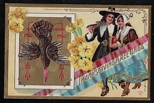 Vintage Antique Postcard Thanksgiving Greetings