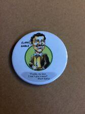 VINTAGE PINBACK BUTTON #116-005- Clark Gable Caricature