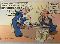 Vintage Comic Postcard Gimme Ol' Sales Talk Again I'm Kinda Gittin' Discourage!