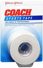 JOHNSON - JOHNSON COACH Sports Tape 1-1/2 Inches X 10 Yards (Pack of 2)