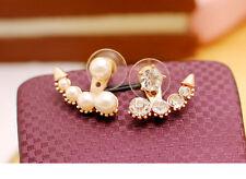 Fashion Earrings - Mismatch Rhinestones and pearls
