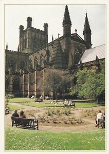 Chester Cathedral, Cheshire. Dixon postcard with crease damage. Unused