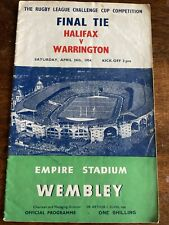 More details for final tie halifax v warrington empire stadium programme collectors