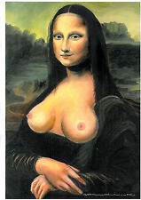 Mona Lisa in topless- ORIGINAL PRINT NUMBERED-SIGNED BY ARTIST.: WILKO 2012