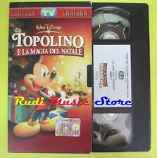 film VHS cartonata TOPOLINO E LA MAGIA DEL NATALE WALT DISNEY (F27) no dvd