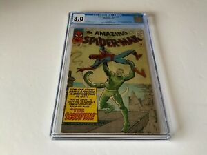 AMAZING SPIDER-MAN 20 CGC 3.0 ORIGIN 1ST APPEARANCE SCORPION MARVEL COMICS 1965